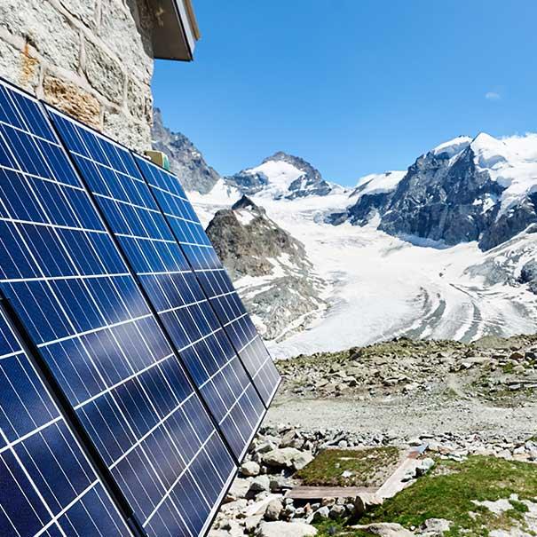 Panneau solaire haute montagne